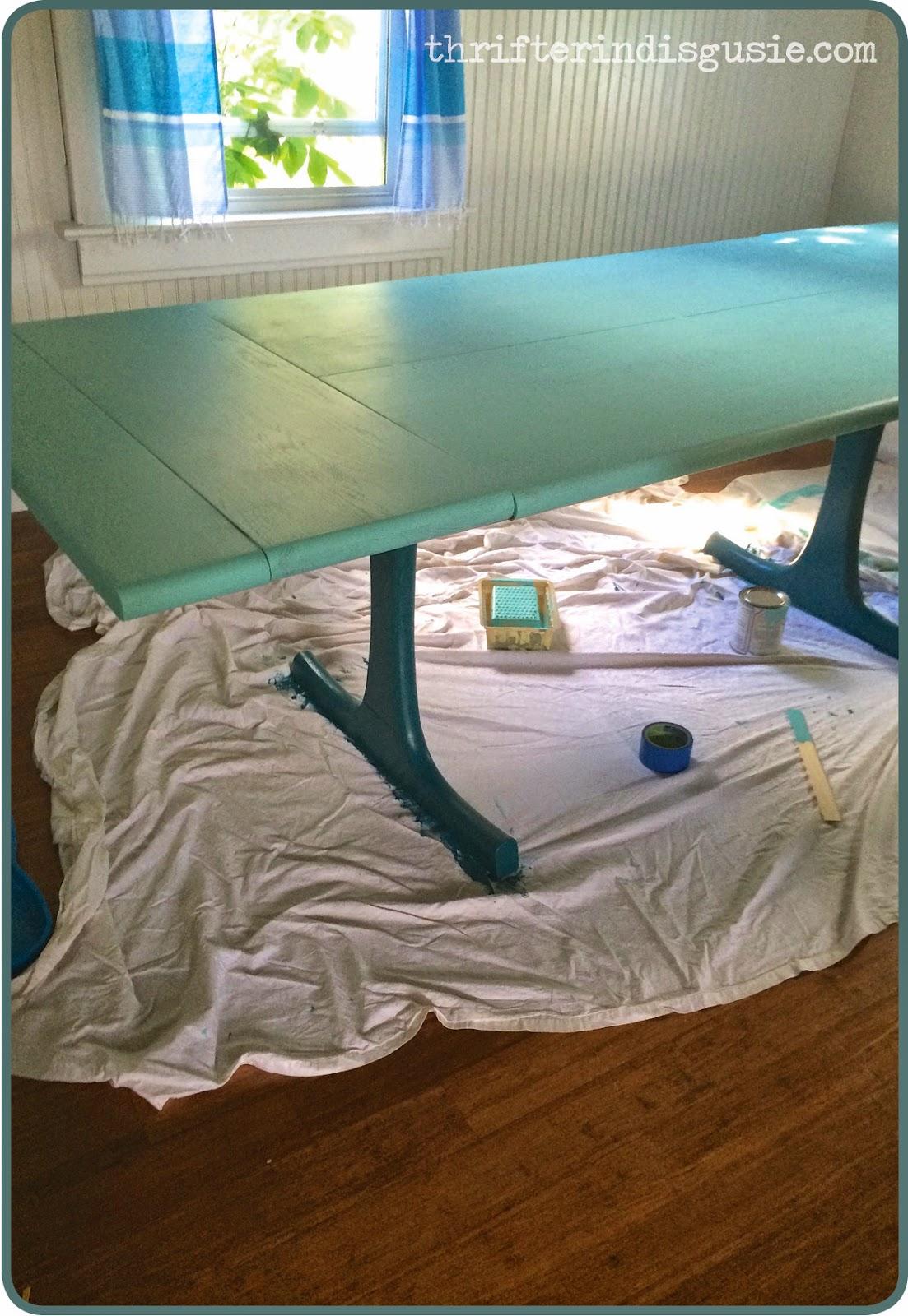 Turquoise kitchen table