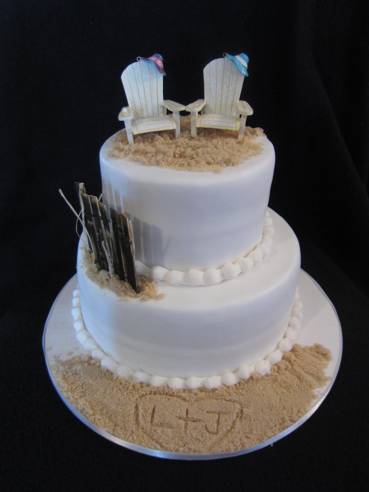 SABtabulous Cakes Beach Themed Wedding Cake