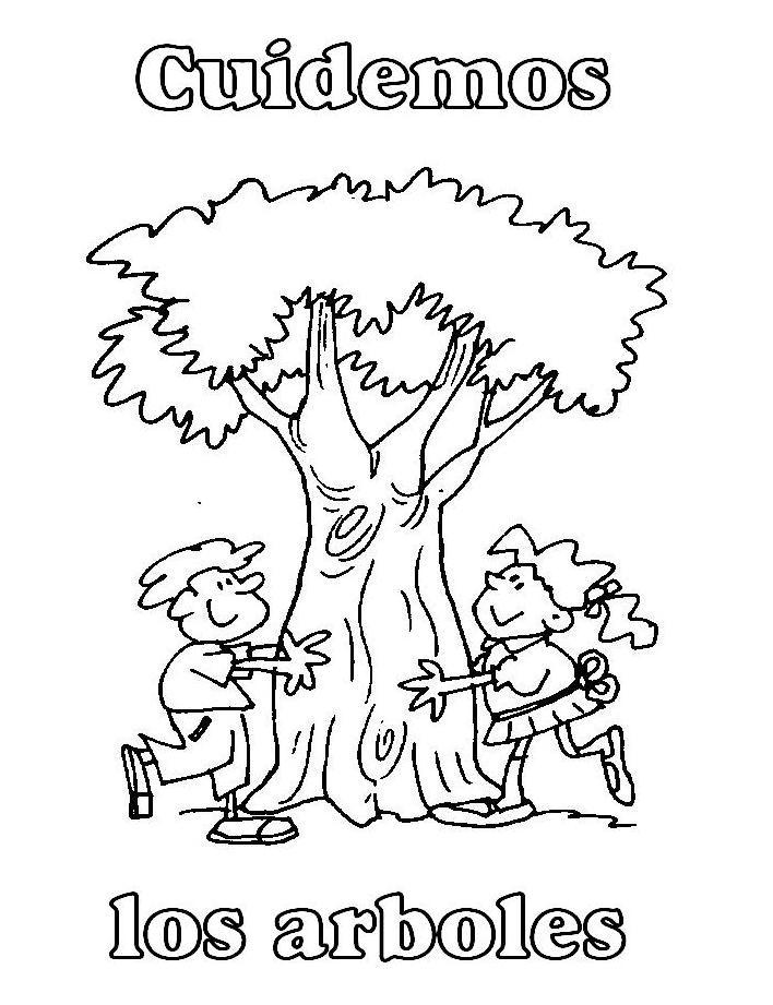 Dibujos para colorear - Los incendios | Crece con tu árbol