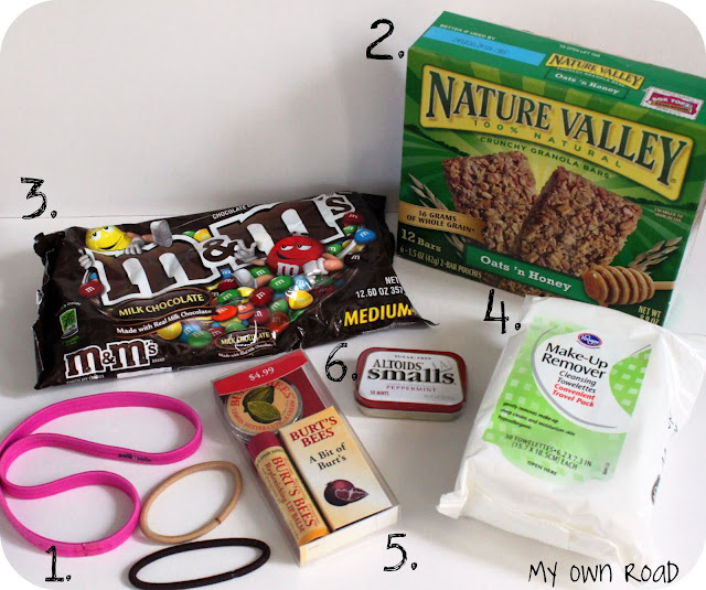 Here are some ideas for things to include in the survival kit: