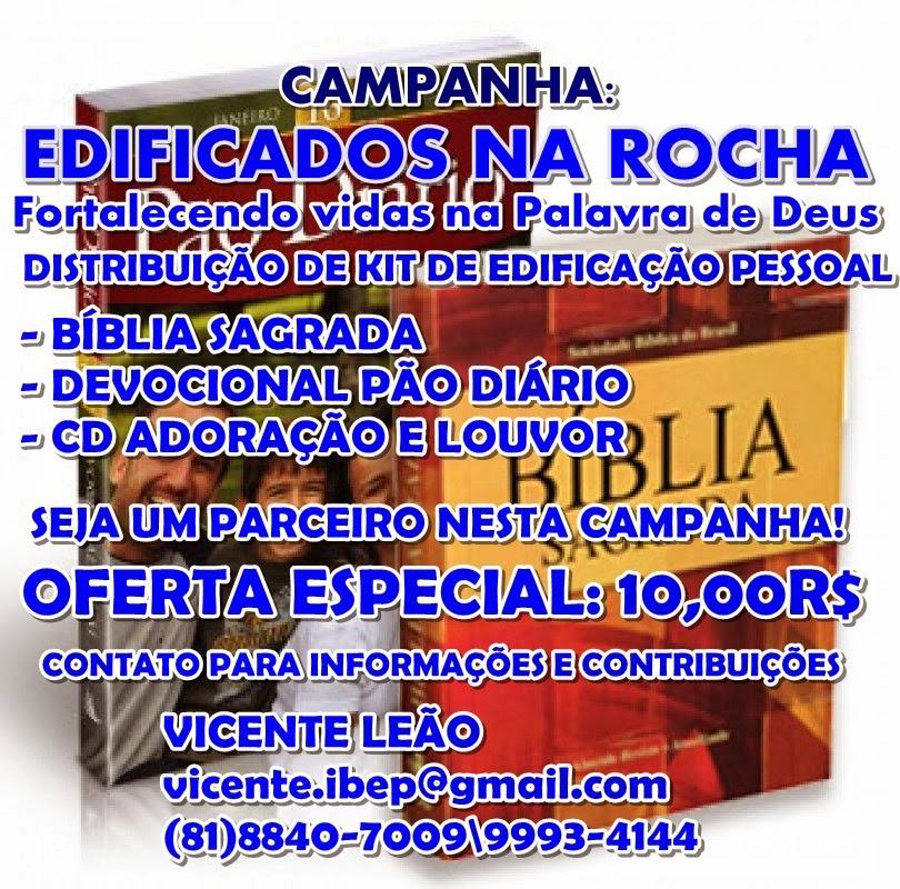 CAMPANHA DE ENTREGA DE BÍBLIAS