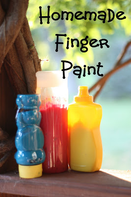 homemade+finger+paint+3+copy Squeezable Homemade Finger Paint
