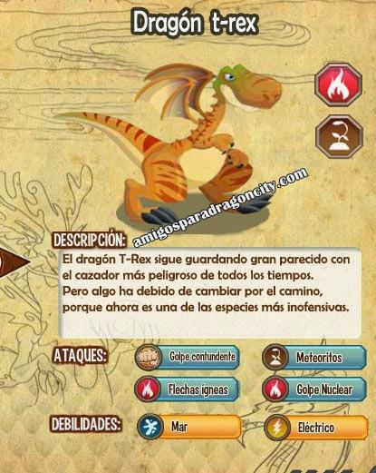 imagen de todas las estadisticas del dragon t-rex