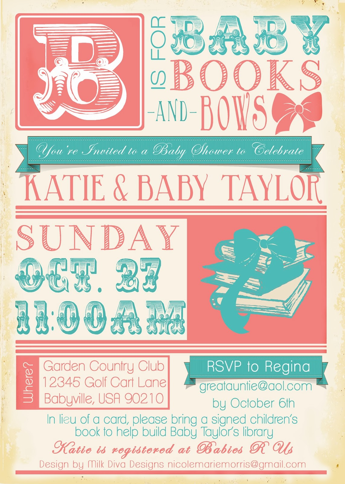In Lieu Of A Card Bring A Book Baby Shower Part - 46: All Things Katie Marie - Blogger