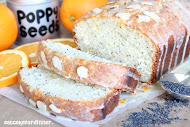 Almond Poppy Seed Bread with Orange Glaze