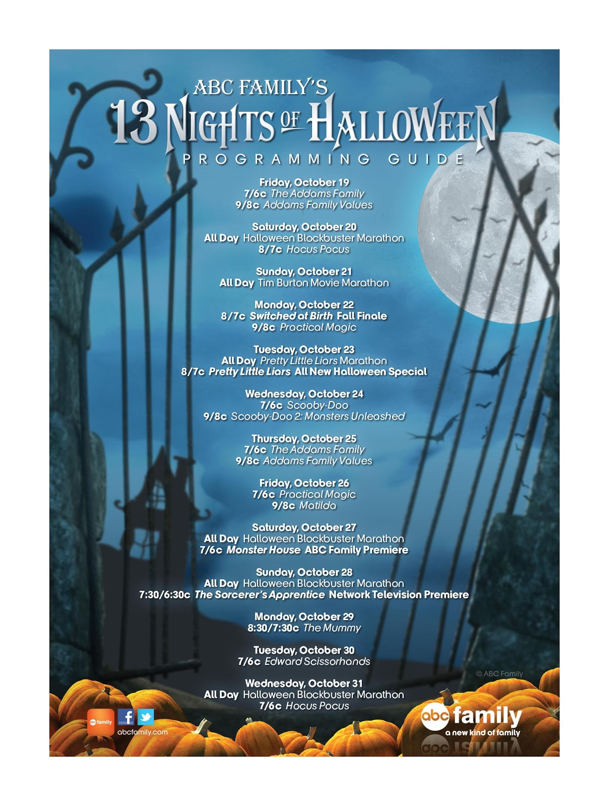 The Green Eyed Momma: 13 Nights of Halloween with ABC Family