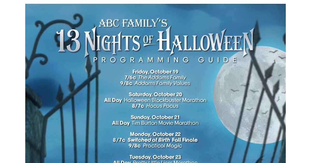 the green eyed momma 13 nights of halloween with abc family