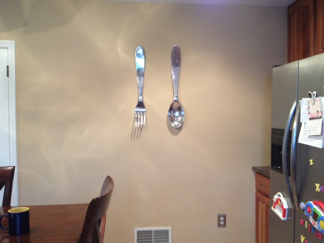 Oversized Fork And Spoon Wall Decoration at Home and Interior ...