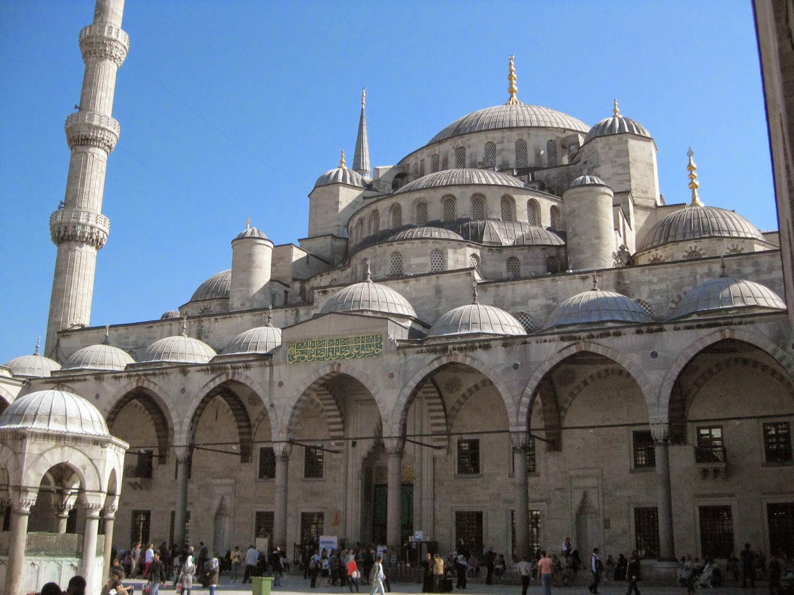 Istanbul - Visitors can only enter the Blue Mosque after prayer is finished