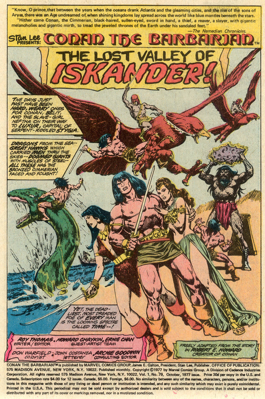 Conan the Barbarian (1970) Issue #79 #91 - English 2