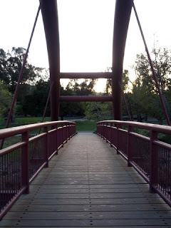 Vasona Park Bridge, near dusk.
