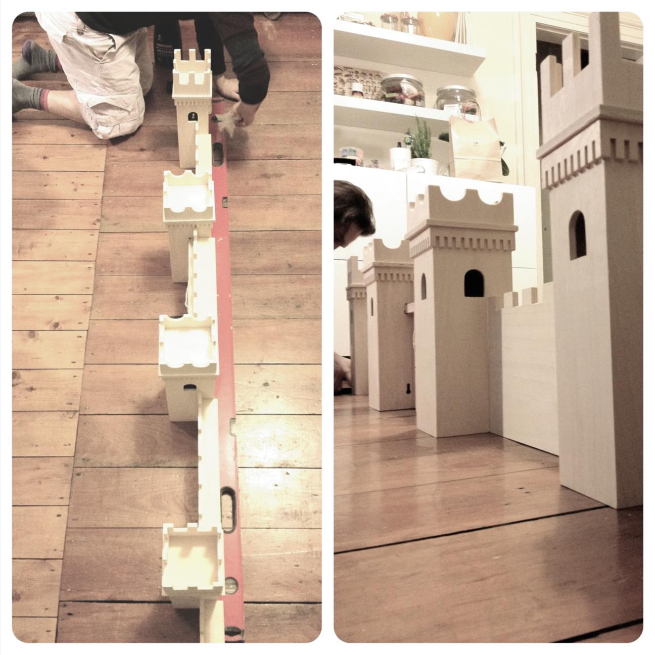 DIY Project Castle Turned Into Bookshelf