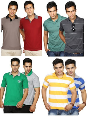 HomeShop18 Offer: Duke T-Shirts Combo worth Rs.685 for Rs.548 @ Flat 20% Extra Off (Valid till 8th Sep'13)