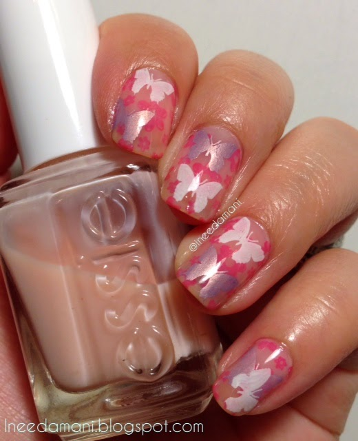butterflies and flower nail stamping jelly sandwich