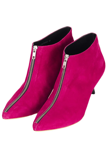 pink suede ankle boots