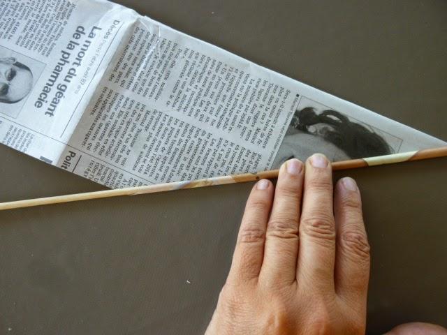 longchamp bricole atelier vannerie avec papier journal. Black Bedroom Furniture Sets. Home Design Ideas