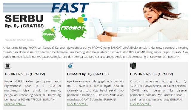 Mau Bikin Website + Hosting Murah AbizZ? Ke Rajawebhost.com aja!