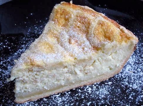Пирог с творогом и миндалем