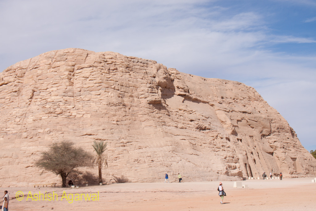 The hillock where the temple dedicated to the queen (part of the temple of Abu Simbel) is located
