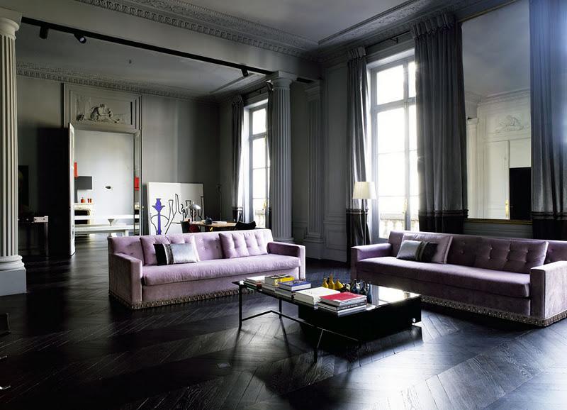 Dark Floors Gray Walls Living Rooms 800 x 578