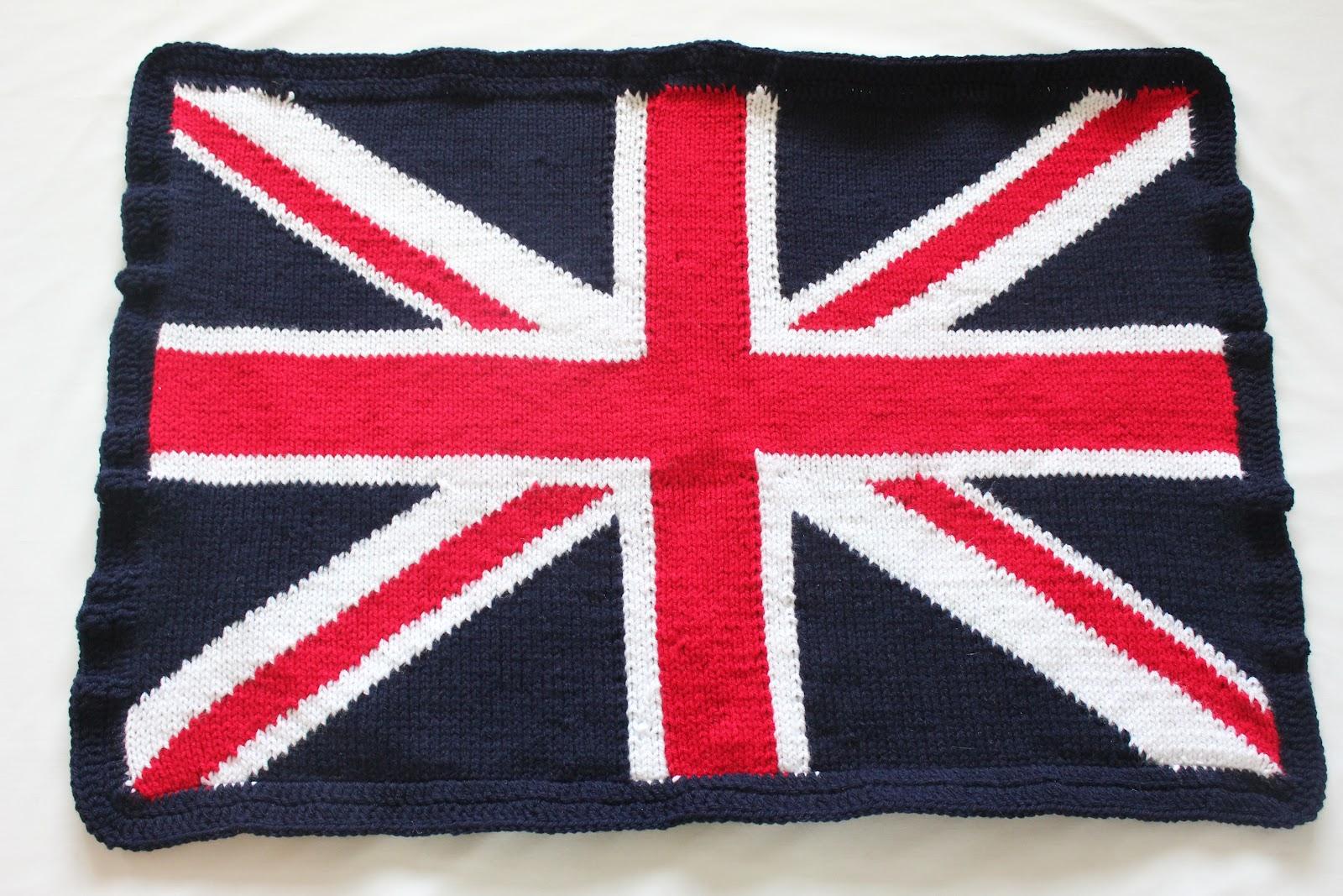 Knitting Pattern For Union Jack Blanket : WoollyBudgie