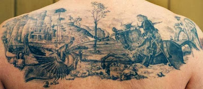 Saint George Black White Tattoo