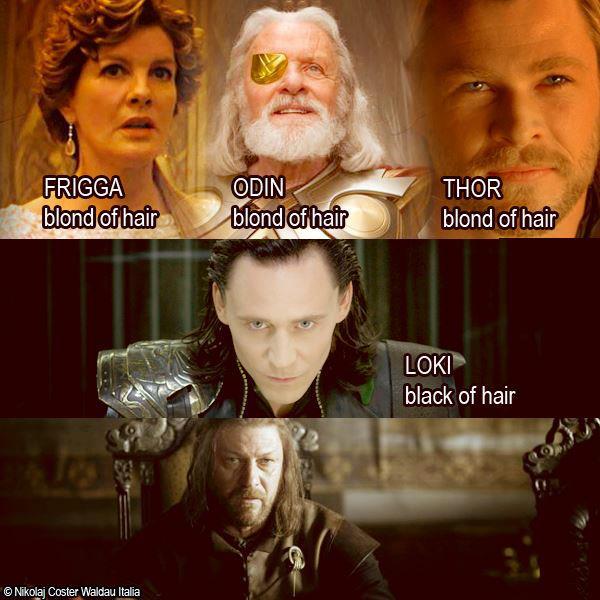 Odin Thor Loki Ned Stark - Juego de Tronos en los siete reinos