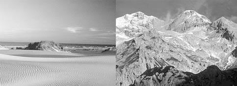 Kondisi iklim yang berbeda antara wilayah pantai dan gunung dipengaruhi unsur topografi