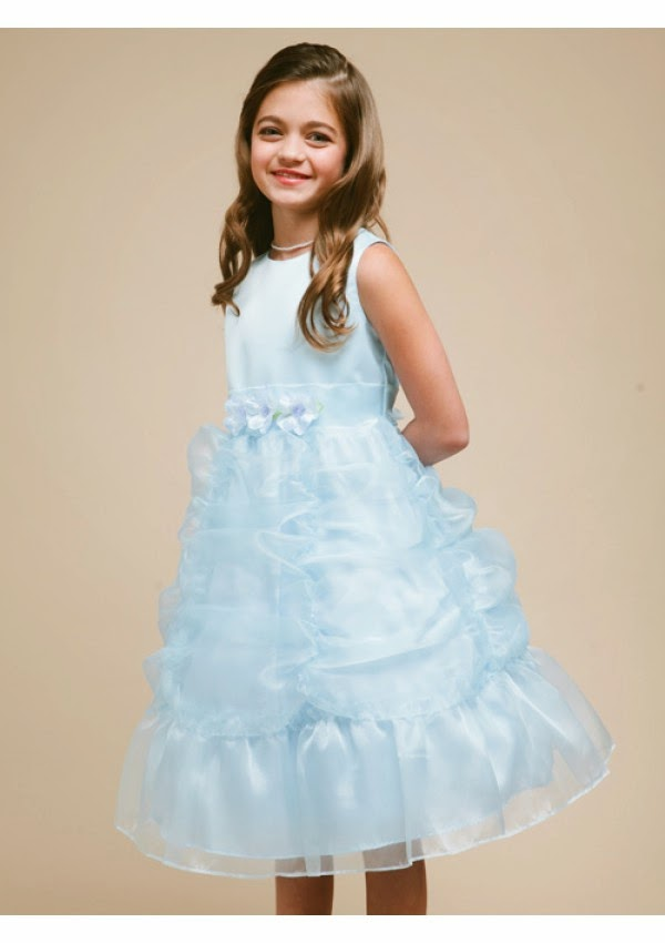 Stunning Organza Scoop A-Line Flower Girl Dresses