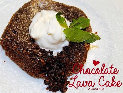 Easy chocolate molten lava cake