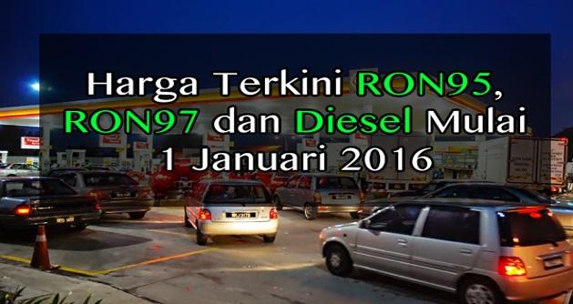 Harga Terkini Minyak RON95, RON97 Dan Diesel Bermula 12 Malam Ini