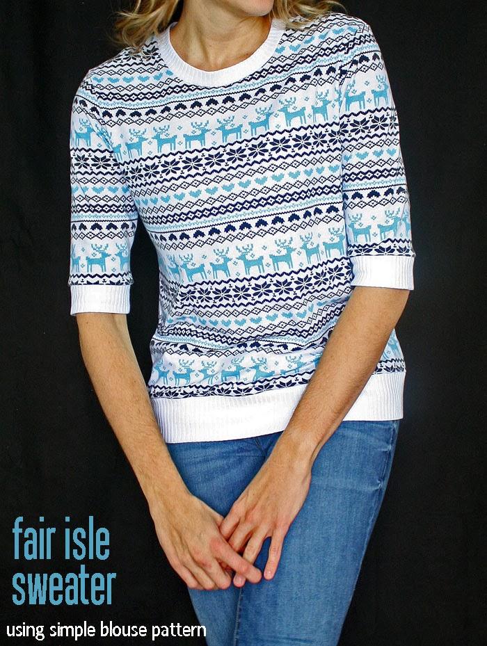 Running With Scissors: Fair Isle Reindeer Sweater