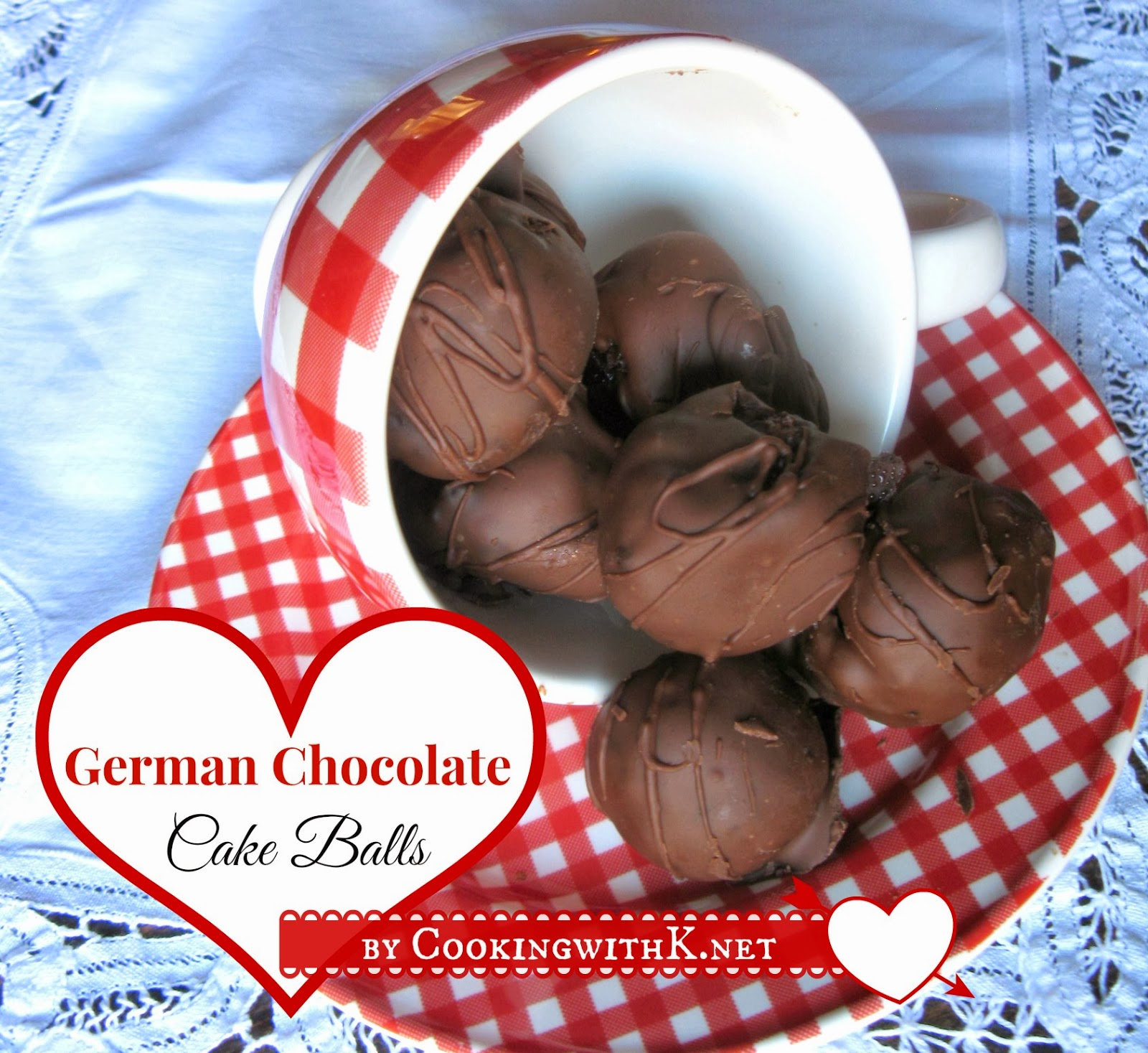 German Chocolate Cake Balls