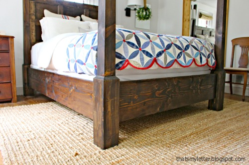 Stained Poster Bed