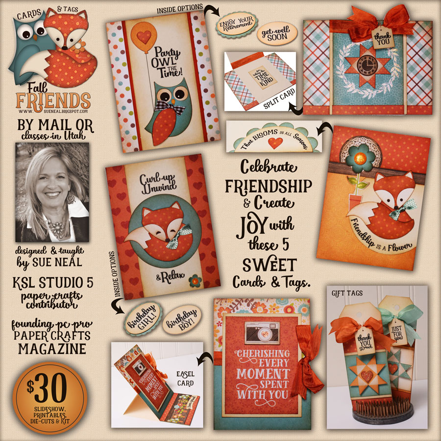 New Class: Fall Friends Cards & Tags