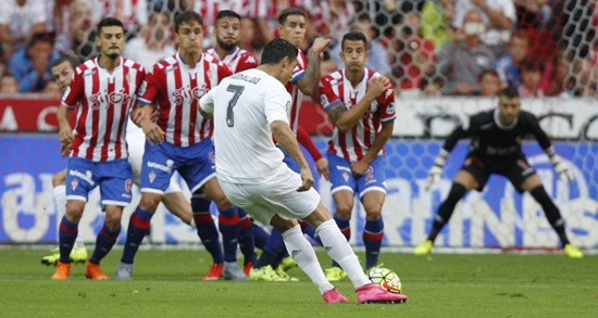 Cristiano Ronaldo - Sporting Gijón 0 x 0 Real Madrid - Campeonato Espanhol(La Liga) 2015/16