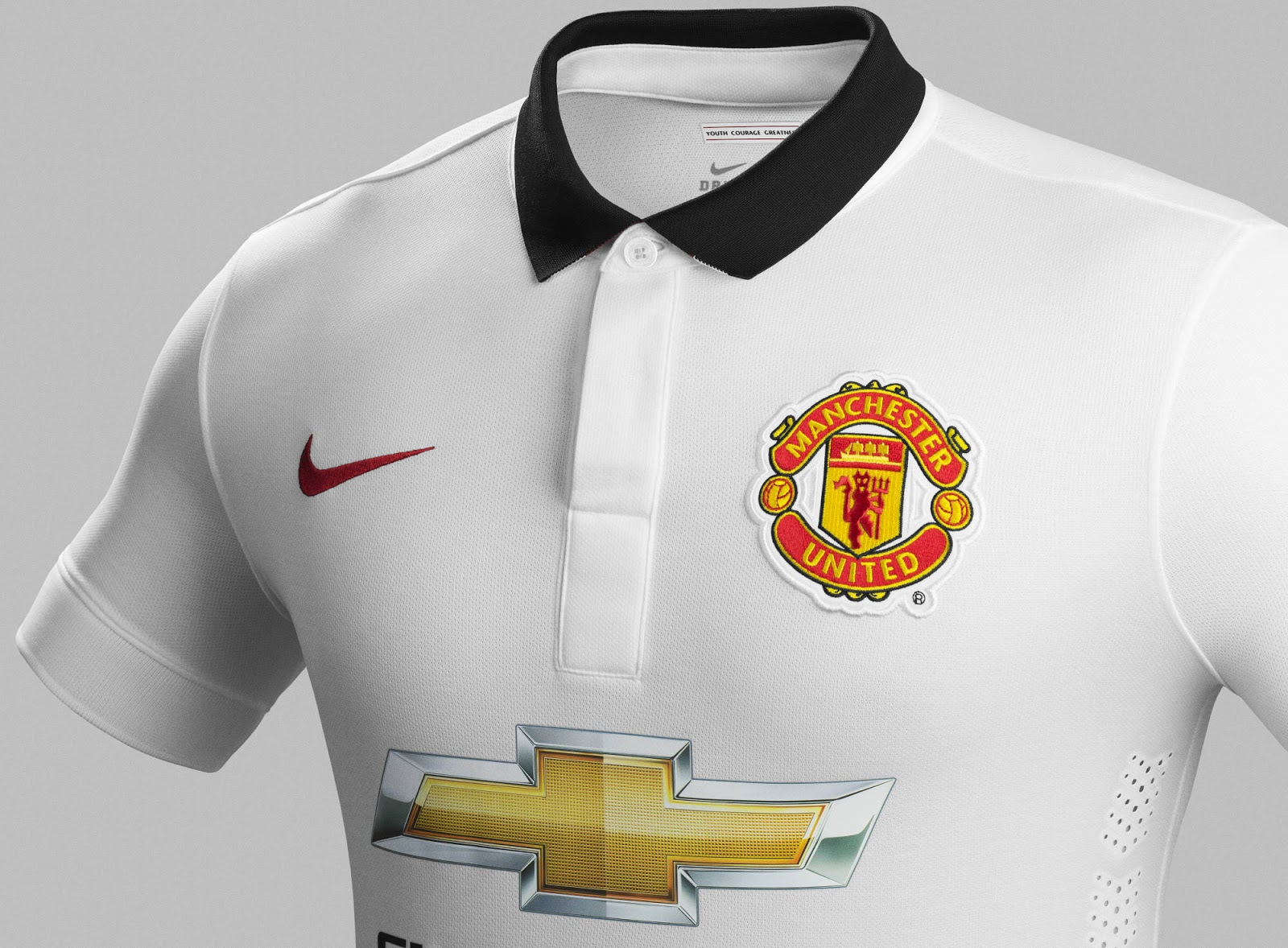 Manchester United 14-15 Away Kit are black  red  the socks are whiteManchester United 2014 Away Kit