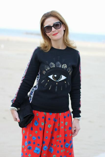 Kenzo eye sweatshirt, maglia occhio Kenzo, felpa occhio Kenzo, Fashion and Cookies, fashion blogger