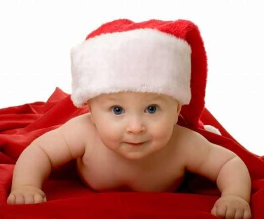 Funny Christmas Baby Picture Wallpaper Cute Image And Of