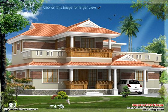 Traditional looking Kerala home