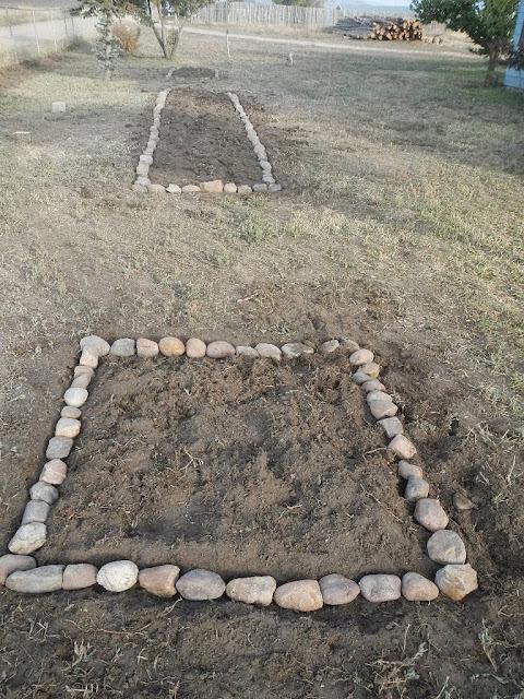 building rock border flower garden beds