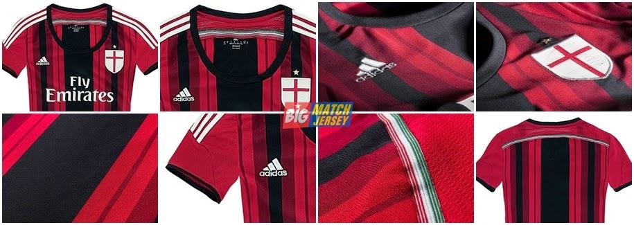 Detail Jersey Ac Milan GO Ladies 2015