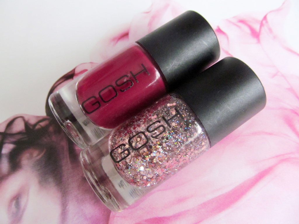 GOSH Nail Polish in Berry Me and Girls on Film