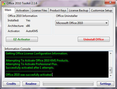 Microsoft Office 2010 Toolkit and EZ-Activator | Download Free Drivers