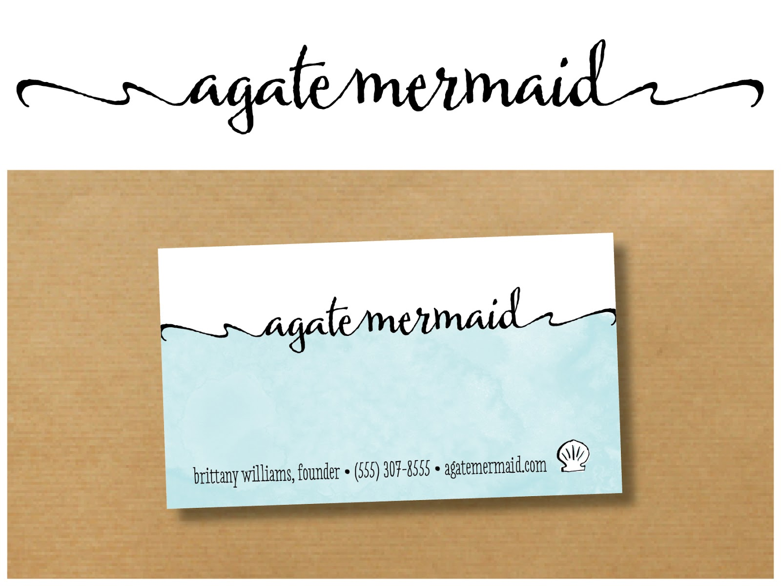 Heather L Myers : graphic design: Logo + Business Card for Agate ...