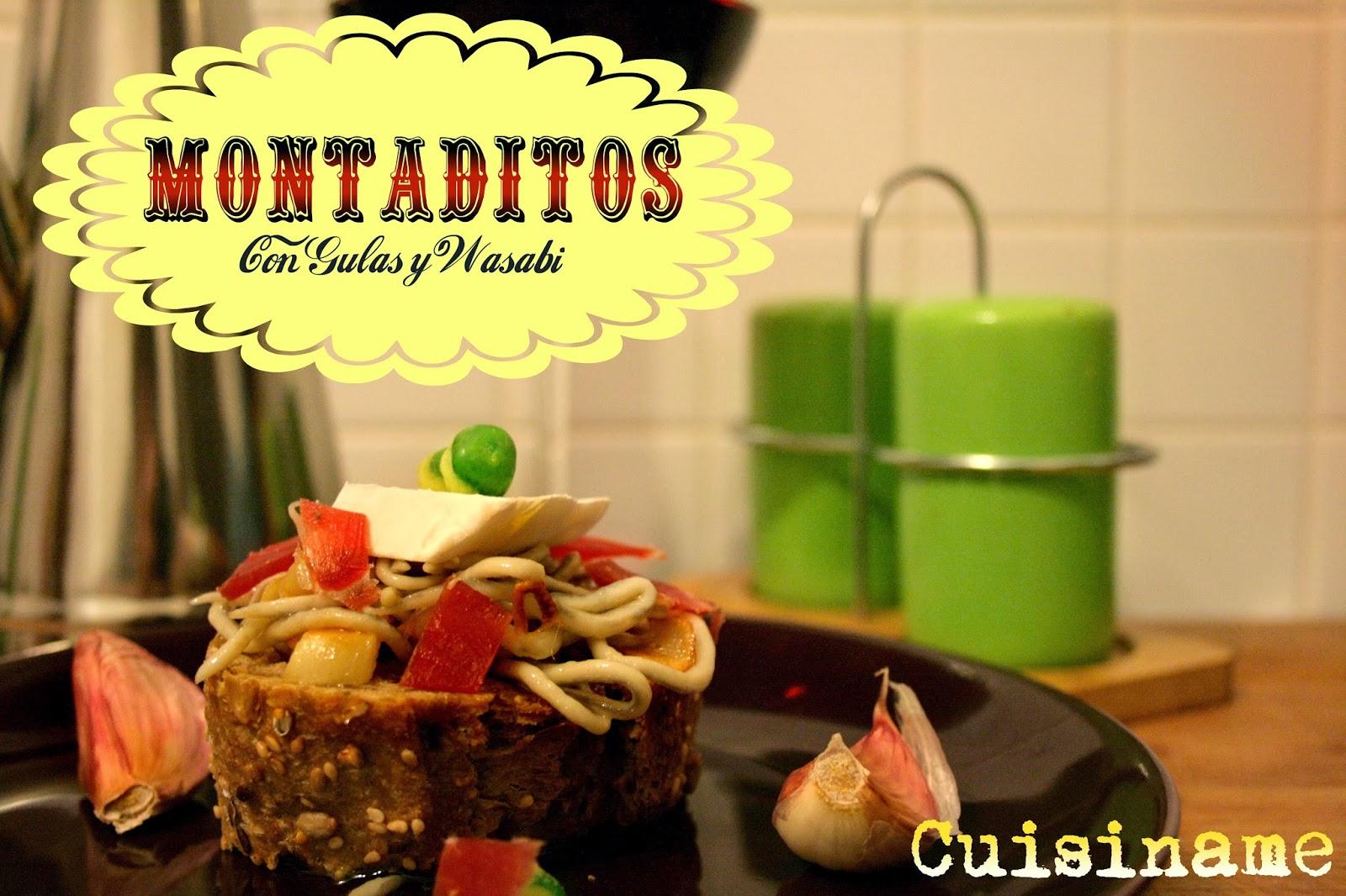 montaditos, tapas, aperitivos, tapas originales, gulas, jamón ibérico, wasabi, recetas originales, recetas de cocina, recetas originales, yummy recipes, humor, recetas caseras, recetas faciles