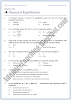 XI Chemistry MCQs - Chemical Equilibrium