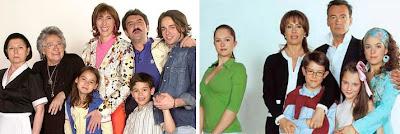 Las dos familias protagonistas de la serie Mis adorables vecinos