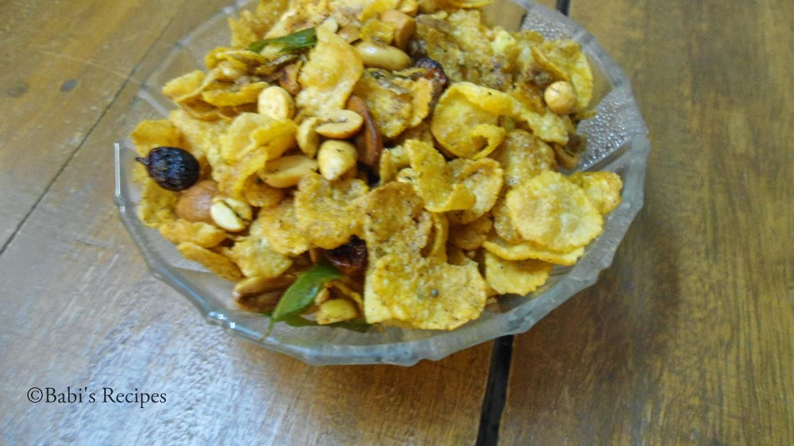 corn flakes mixture