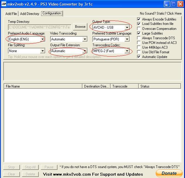 Info dmam tutorial mkv2vob criando um avchd usb para rodar no ps3 ccuart Image collections